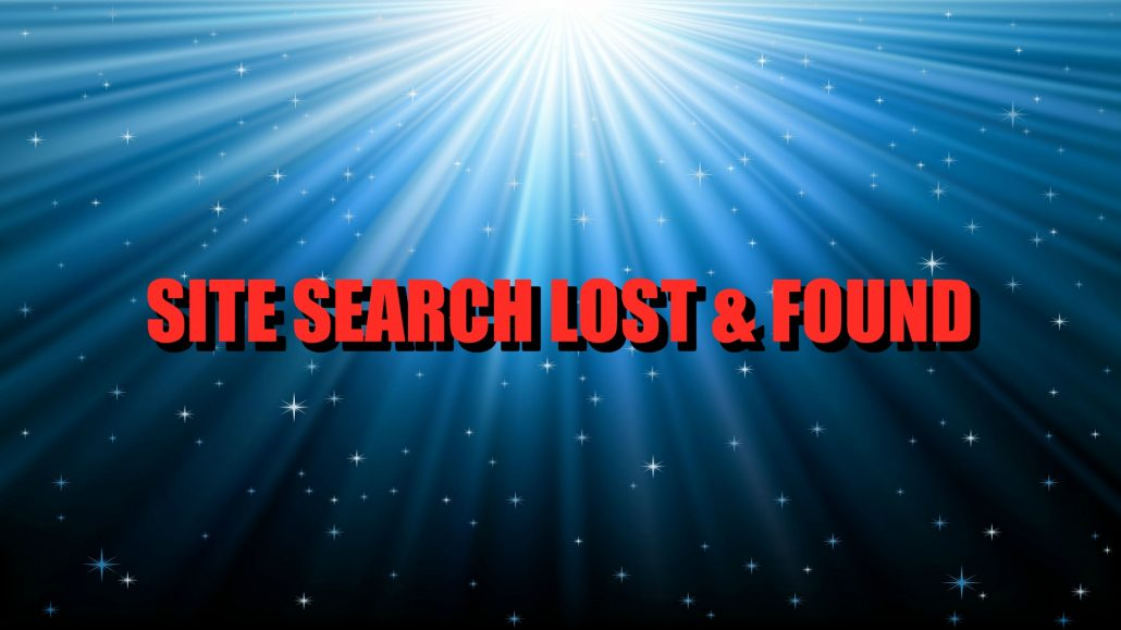 SITE SEARCH LOST & FOUND