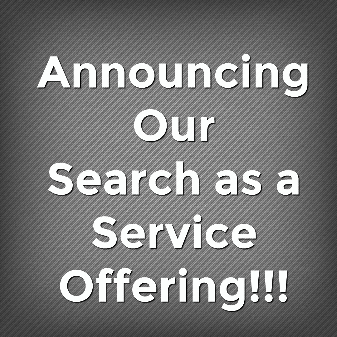 Announcing our Search as a Service offering