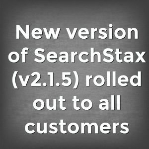 New version of SearchStax (v2.1.5) rolled out to all customers