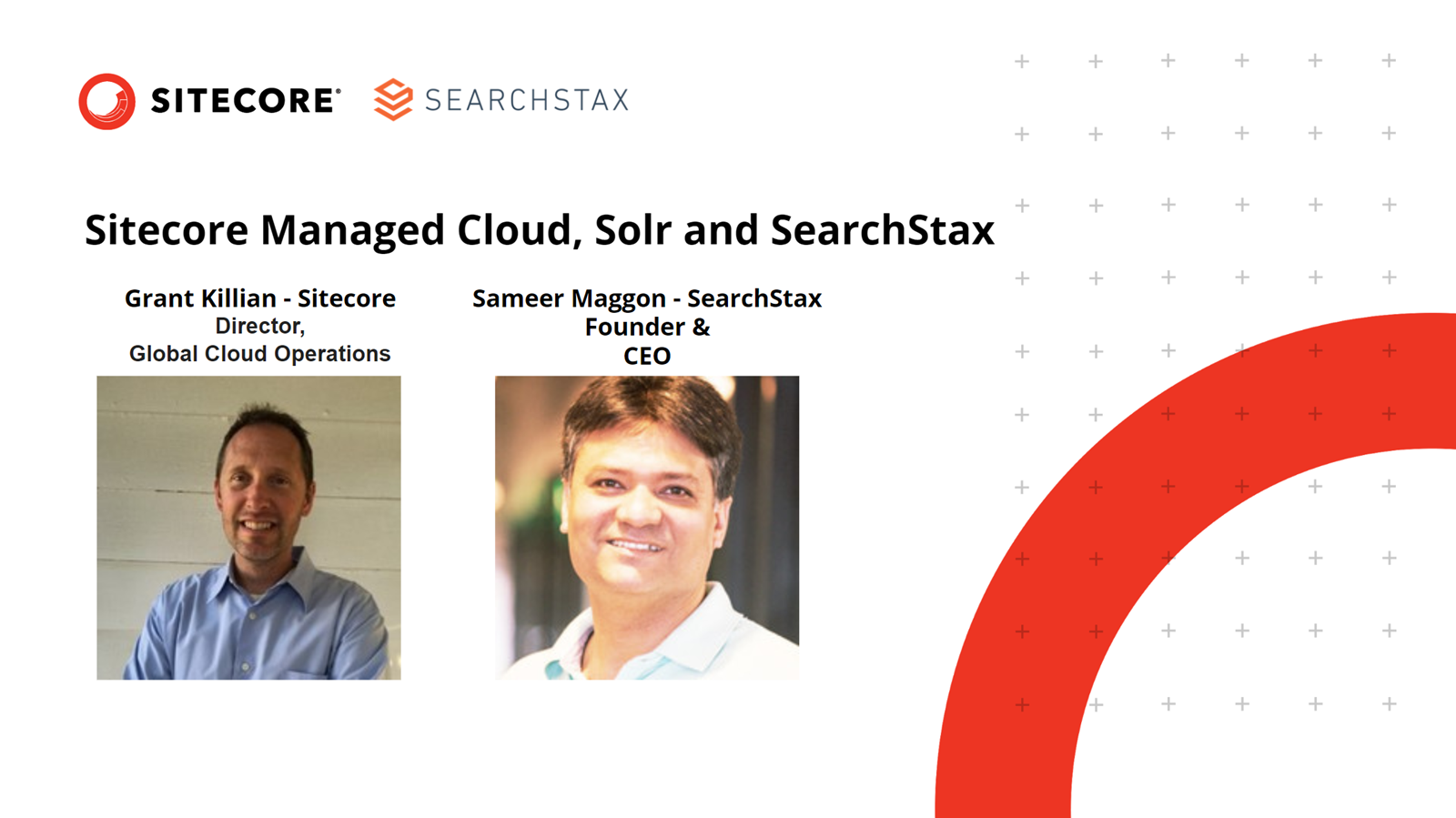 Sitecore Managed Cloud, Solr and SearchStax Micro-Webinar