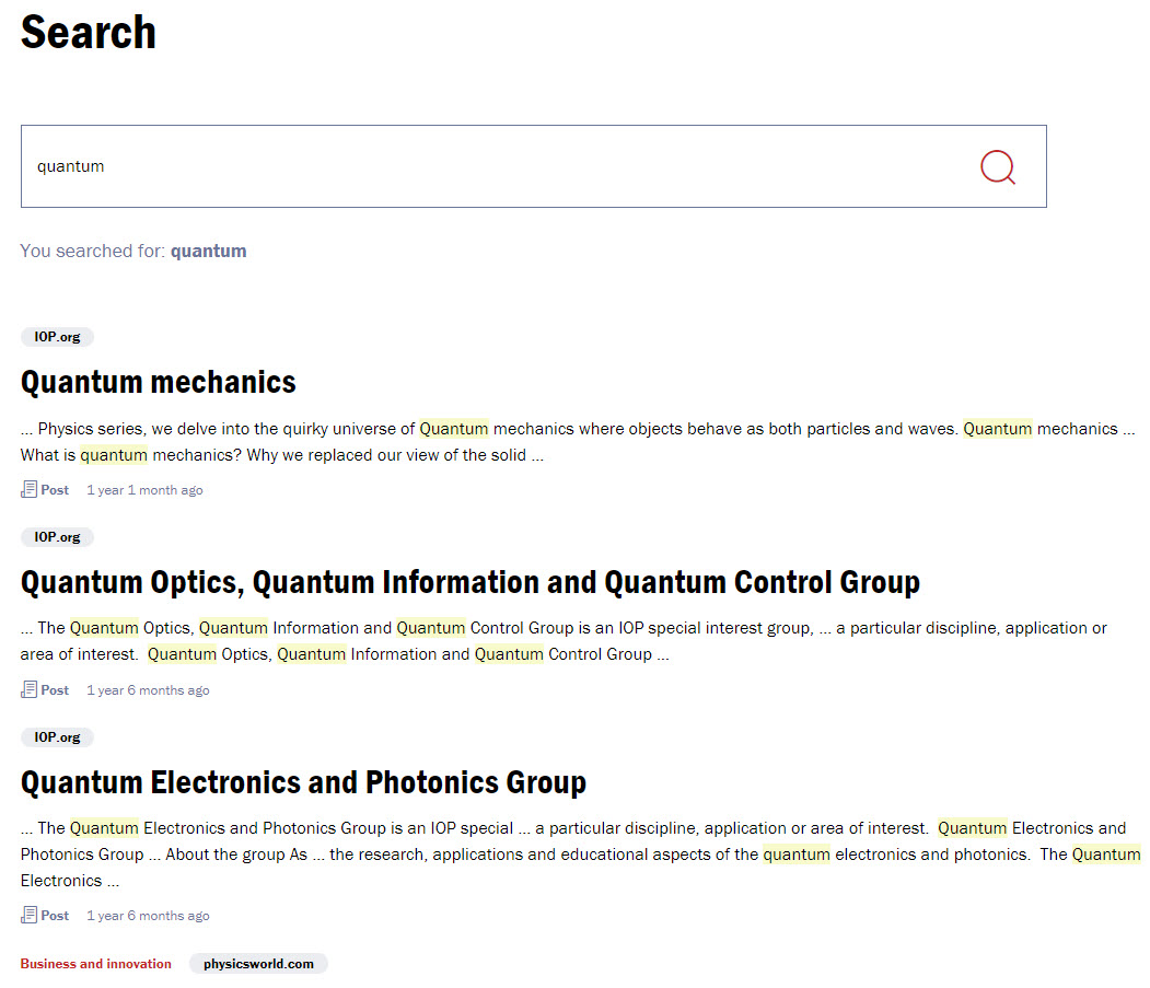 IOP - New Search Page