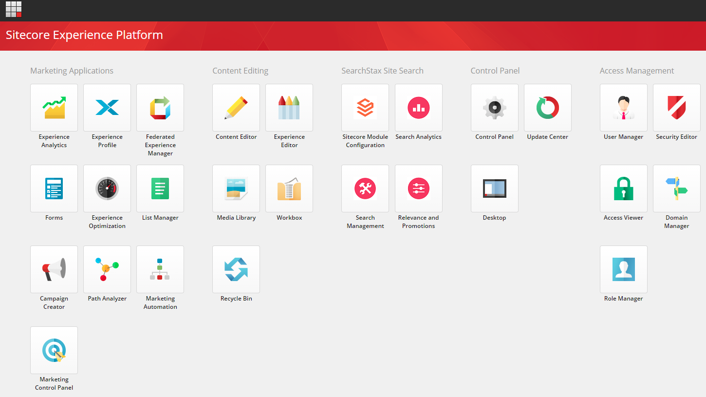 SearchStax Site Search for Sitecore - Icons on Site Experience Platform