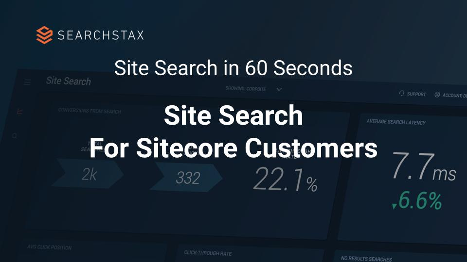Site Search for Sitecore – Video Overview