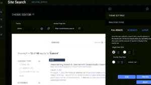 Create a Custom Search Page Theme with SearchStudio