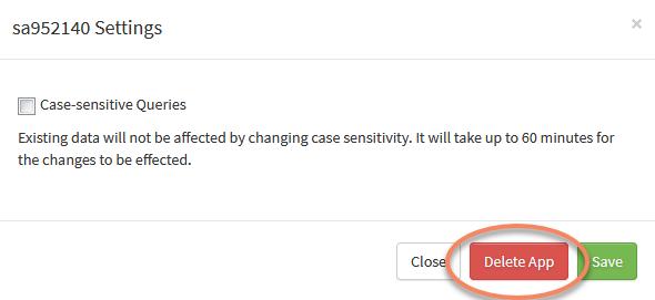 SearchStax Delete Analytics App