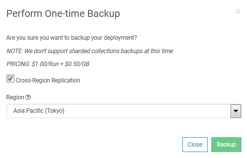 SearchStax Backup Confirmation