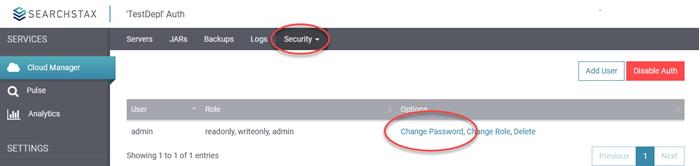 SearchStax Change Password