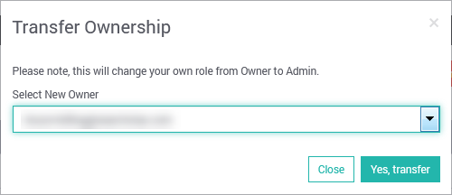 SearchStax Transfer Owner