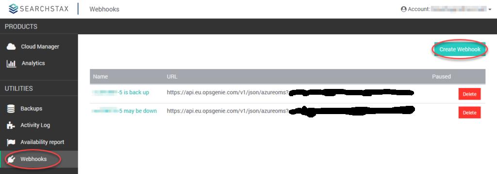 SearchStax Webhooks