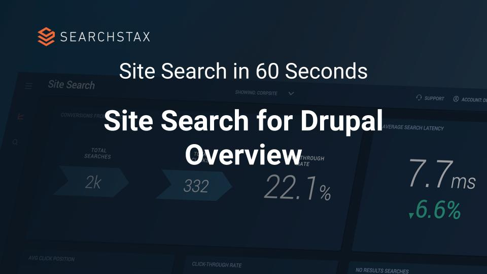 Site Search for Drupal and Acquia Overview