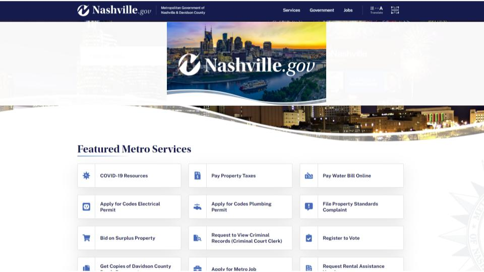 Nashville Upgrades Citizen Experience with Improved Site Search - Case Study
